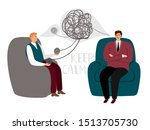 psychotherapy counsel concept ... | Shutterstock . vector #1513705730