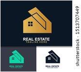real estate logo design. ... | Shutterstock .eps vector #1513707449
