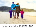 Happy Young Family Is Walking...