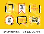know the facts speech bubble... | Shutterstock .eps vector #1513720796