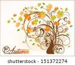beautiful autumn tree . vector...