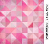 abstract triangles vector pink... | Shutterstock .eps vector #151375040