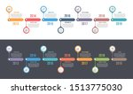 horizontal timeline template...   Shutterstock .eps vector #1513775030