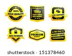 a set of high quality badges | Shutterstock .eps vector #151378460