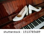 Pair Of White Shoes On A...