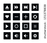 icon set 06 media player... | Shutterstock .eps vector #151378838