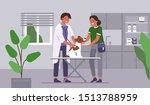 doctor veterinarian checking... | Shutterstock .eps vector #1513788959