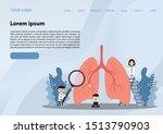 human lungs. miniature doctors... | Shutterstock .eps vector #1513790903