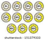 set of yellow modern round... | Shutterstock . vector #151379333