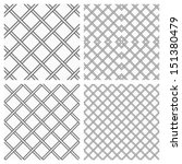 set of two metal or steel grids ... | Shutterstock . vector #151380479
