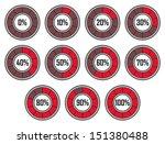 set of red round loader... | Shutterstock . vector #151380488