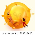 3d business people with big... | Shutterstock .eps vector #1513810490
