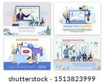 bright banner set online...   Shutterstock .eps vector #1513823999