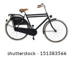 Vintage Dutch Bicycle Isolated...