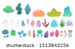 flat minimal leaves. simple...   Shutterstock .eps vector #1513843256