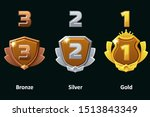 set silver  gold and bronze...