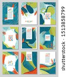 set of abstract covers with... | Shutterstock .eps vector #1513858799