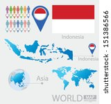Indonesia. Flag. Asia. World...