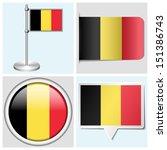 belgium flag   set of various... | Shutterstock . vector #151386743