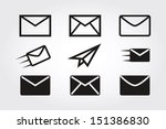 mail icons  | Shutterstock .eps vector #151386830