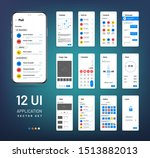 screen wireframes. mobile...