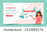 medical appointment pregnancy....   Shutterstock .eps vector #1513893176