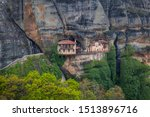 View of the old Yapanti Monastery in Meteora, Greece