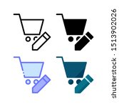 shopping cart edit icon. with...