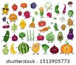 big set of vegetables  fruits... | Shutterstock .eps vector #1513905773