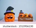 monster pumpkins the halloween... | Shutterstock . vector #1513906130