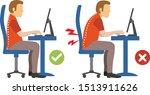 ergonomic infographic bad... | Shutterstock .eps vector #1513911626