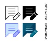 edit comment icon. with outline ...