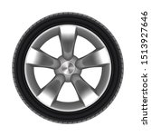 tyre of car isolated with star... | Shutterstock .eps vector #1513927646