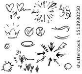 doodle element collection... | Shutterstock .eps vector #1513930250
