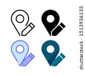 location edit icon. with...