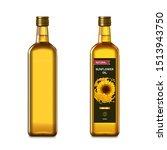 sunflower oil in a glass... | Shutterstock .eps vector #1513943750