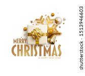 merry christmas and new year... | Shutterstock .eps vector #1513946603
