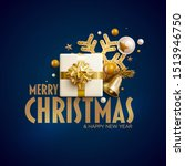 merry christmas and new year... | Shutterstock .eps vector #1513946750