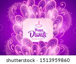 happy diwali greeting card with ... | Shutterstock .eps vector #1513959860