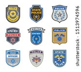 police shield. government agent ... | Shutterstock . vector #1513974596