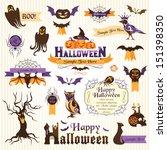 set of halloween design... | Shutterstock .eps vector #151398350