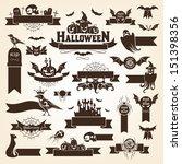 set of halloween design... | Shutterstock .eps vector #151398356