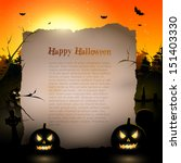 halloween background with place ... | Shutterstock .eps vector #151403330