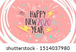 happy new year 2020. aesthetic... | Shutterstock .eps vector #1514037980