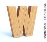 Wood Font  3d Alphabet Made Of...