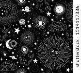 space galaxy constellation... | Shutterstock .eps vector #1514117336