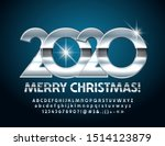 vector luxury merry christmas... | Shutterstock .eps vector #1514123879