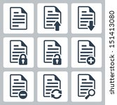 vector isolated document icons... | Shutterstock .eps vector #151413080