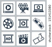 vector isolated cinema video... | Shutterstock .eps vector #151413380