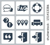 vector isolated faq info icons... | Shutterstock .eps vector #151413386